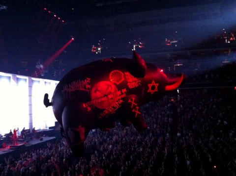 Roger Waters' Pig of stupidity